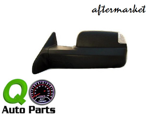 Left Drivers Power Tow Side Mirror Heated Signal 09 12 Dodge Ram Pickup Truck