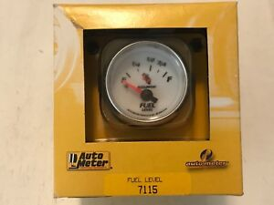 Auto Meter 2 1 16 C2 Fuel Level Gauge 73 10 Ohms Air Core Ford Mustang