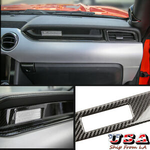 Glossy Carbon Fiber Interior Passenger Side Dash Trim For Ford Mustang 2015 2020