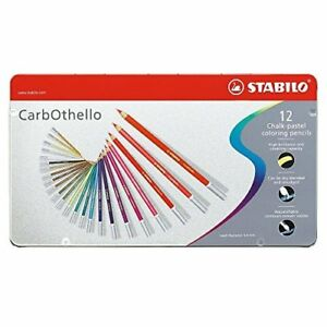 Stabilo Pastel Colored Pencils Carbothello 1412 6 12 Color Set Import Japan