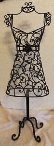 Black Wire Mannequin 24 Metal Sturdy For Display Or Decoration