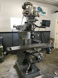 Nice 9 X 48 2hp Late Model Bridgeport Vertical Milling Machine With Dro