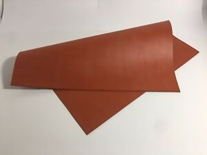 Silicon Rubber Sheet High Temp Solid Red orange Commercial Grade 36 X 36 X1 4
