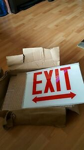 5 Exit Glass Sign Replacement Lot New Nos
