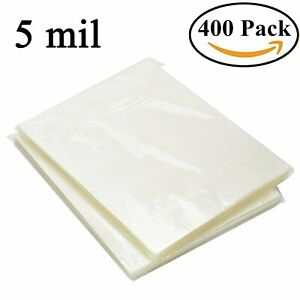 400 Sheet 9 x11 5 Universal Clear Letter Size Thermal Laminating Pouches 5 Mil