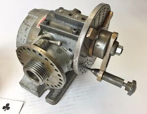 Ellis Inclining Dividing Head With B s Taper Dead Center Attachment Usa Made