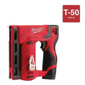 Milwaukee M12 3 8 Crown 12v Cordless Stapler W charger tool Only 2447 21