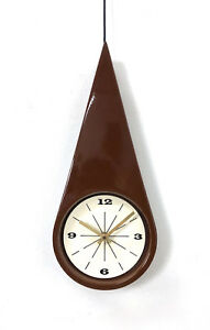 Vintage Charles Chaney Vohann Wall Clock Mid Century Modern George Nelson Era