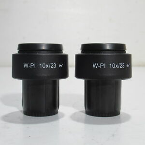 Carl Zeiss W pl 10x 23 Focusable Microscope Eyepiece Pair 30mm 455043 0000