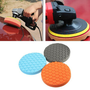 3 4 5 6 7 Inch Buffing Sponge Flat Car Polishing Pad Foam Polisher Buffer 5sizes