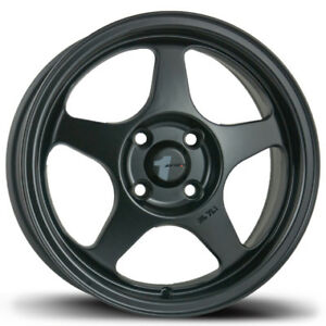 Avid1 Av08 15x6 5 Spoon Slip Stream Style Rims 4x100 35 Black Wheels New 4