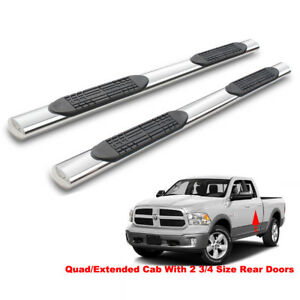 4 Side Step Nerf Bars Running Boards For 09 18 Dodge Ram 1500 Quad extended Cab