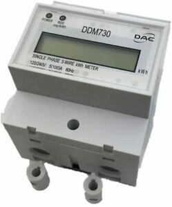 Dae Ddm730 120 240v Kwh Meter 100 Amp 1p3w Internal Ct 60 Hz Pass Through