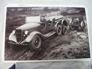 1936 Ford 6x6 Army Test Truck Neat 11 X 17 Photo Picture