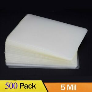 5 Mil Letter Size 500 Laminating Pouches Thermal Laminator Clear 9 x11 5 Sheets