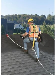 Werner Gear Roofing Roofer Safety System Harness Roof Lanyard Fall Protection