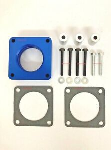 Blue Throttle Body Spacer Fits 1991 1995 Grand Cherokee Jeep Wrangler 2 5l 4 0l