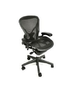 Herman Miller Aeron Chair Size B All Features Plus Adjustable Posturefit