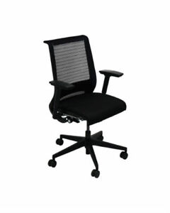 Steelcase Think Chair 3d Knit Back 4 way Adjustable Arms Adjustable Lumbar