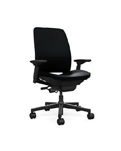 Steelcase Amia Chair Leather 4 way Adjustable Arms Adjustable Lumbar Support