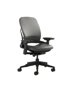 Steelcase Leap Chair Leather 4 way Adjustable Arms Adjustable Lumbar v2