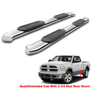 5 Bent Side Step Nerf Bars Running Boards For 09 18 Dodge Ram 1500 Quad Ext Cab
