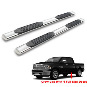 4 Side Step Nerf Bar Running Boards For 09 18 Ram 1500 10 18 2500 3500 Crew Cab
