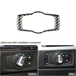 For Bmw E92 E90 E93 3 Series Carbon Fiber Headlight Switch Frame Cover Trim Z4k3