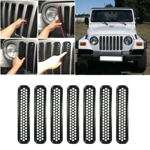 Exterior Accessory Front Grill Mesh Grille Insert Cover For Jeep Wrangler Tj ya