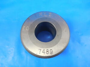 7489 Class Z Go Carbide Insert Smooth Bore Ring Gage 0 75 0011 Undersize 3 4