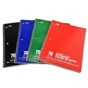 24x Wide ruled Spiral Single subject Notebook School Supplies Drawing Journal