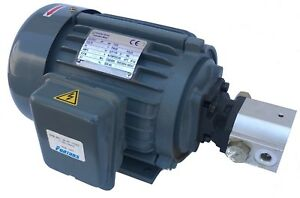 Electric Motor And Hydraulic Pump 1hp 0 7gpm 2400psi 115 240vac 1 Phase