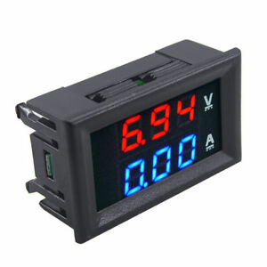 Digital Blue Red Led Dual Digital Voltage Meter Dc100v 10a Voltmeter Ammeter