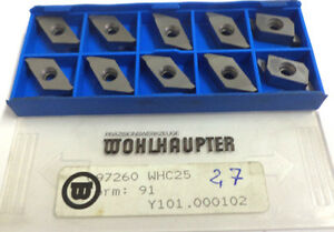 10 Grooving Inserts Prick Form 91 097260 Whc25 Y101 000102 Wohlhaupter H11988