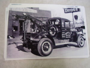 1930 S Dodge Tow Truck In Front Of Dealer 11 X 17 Photo Picture