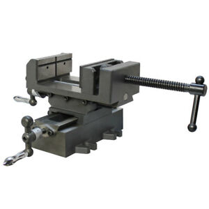 4 X y Compound Cross Over Slide Sliding Drill Press Vise Milling Drilling 2 Way