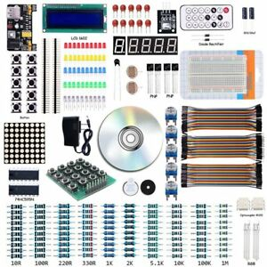 Starter Project Kit With Tutorial 1602 Lcd Breadboard Jumper Cable Power Supply
