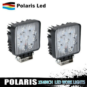2x 5inch 96w Square Led Work Light Bar Spot Flood Offroad Driving Fog Lamp 12v Y