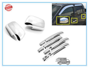 For 2005 2017 Nissan Frontier Chrome Door Handle Mirror Cover Covers