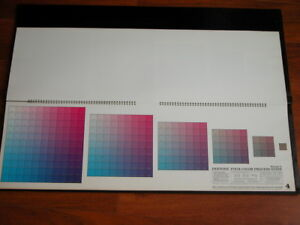 Vtg 1960s Pantone Four Color Process Guide 2 The Pantone Library Of Color