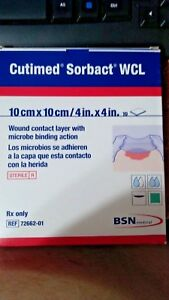 10 Cutimed Sorbact Wcl 4x4in 10x10cm Wound Contact Layer W Microbe Binding Acti