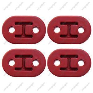4x Universal Exhaust Mount Repair Hanger Bracket Heavy Duty Rubber Replacement