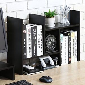 Desktop Organizer Office Storage Rack Adjustable Wood Display Shelf Free Style