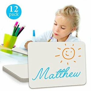 Minted Promos Dry Erase Student Lap White Board 9 X12 inches 12 pack