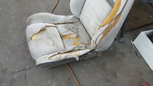 87 Fiero Used Cloth Grey Bucket Seats Cores Bad Material