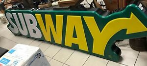 Subway Sandwich Restaurant 12 Huge Big Electric Sign 12 Foot X 33 Store Front