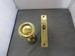Vtg Antique Brass Bronze Russwin Mortise Door Lock Set Knobs 285 Pat 7 26 04