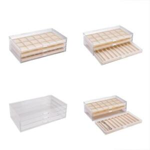 Jewelry Trays Acrylic Organizer Display For Ring Earring And Necklace With Gift