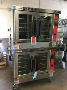 Vulcan Vc4gd Double Stack Full Size Natural Gas Convection Ovens Never Used