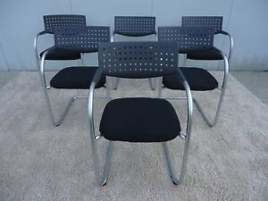 Vitra Visasoft Visavis Guest And Conference Chairs Set Of 6 By Antonio Citterio